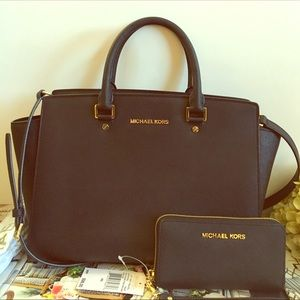 Michael Kors Black Satchel Handbag